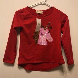 Unicorn girls long sleeve shirt